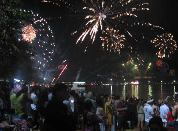 Les photos des feux d'artifices de la nuit de la St Sylvestre à Pattaya